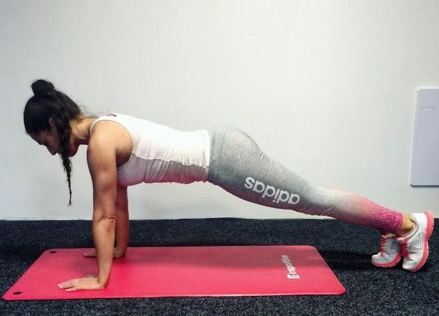 Zanožování v Planku - Výchozí pozice